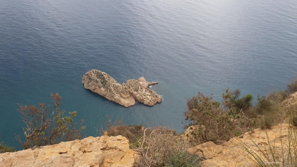Uitzicht op de zee vanaf de Sierra Helada, Benidorm, Spanje