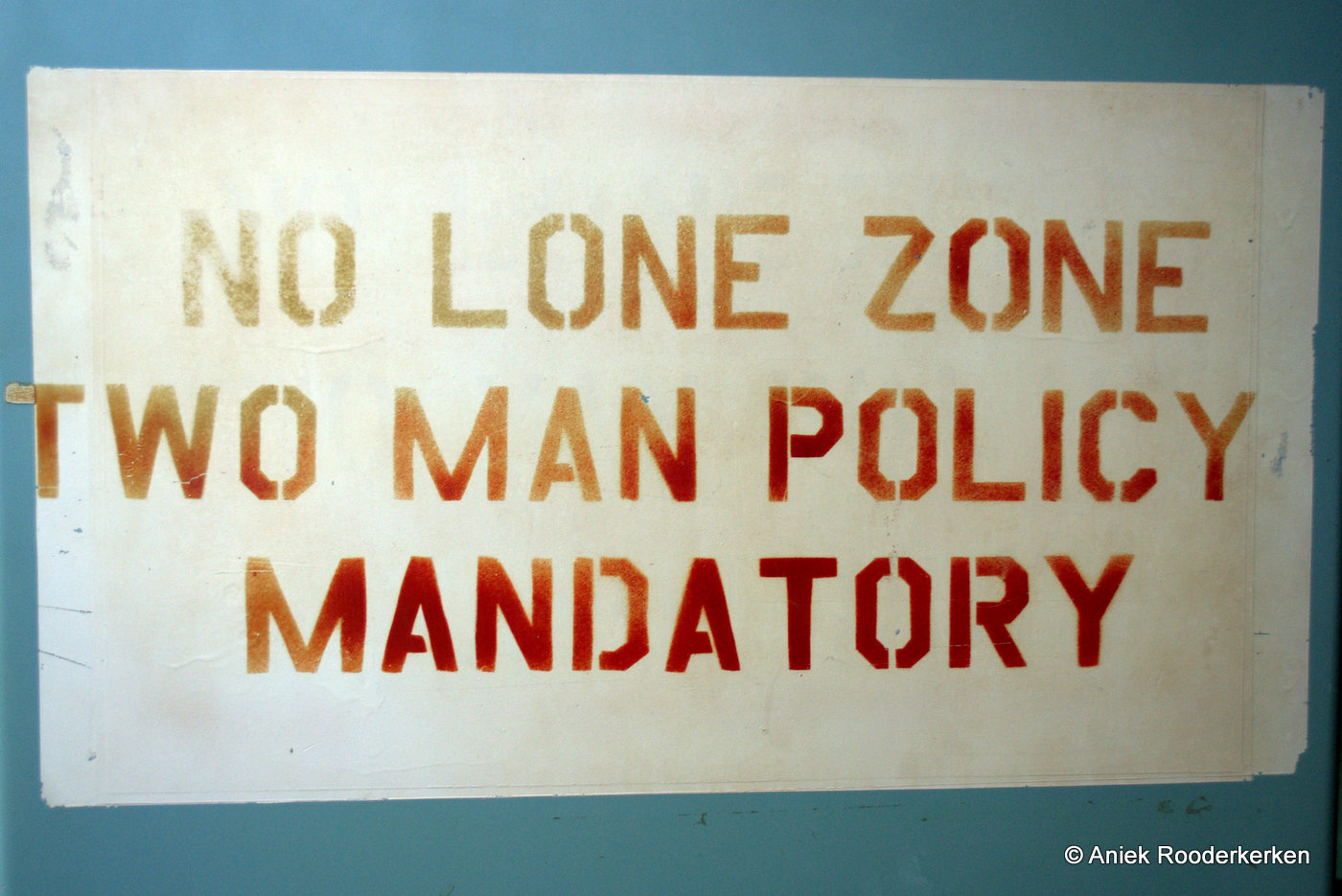 No lone zone, two man policy. Tucson Arizona USA, Titan II Missile Museum
