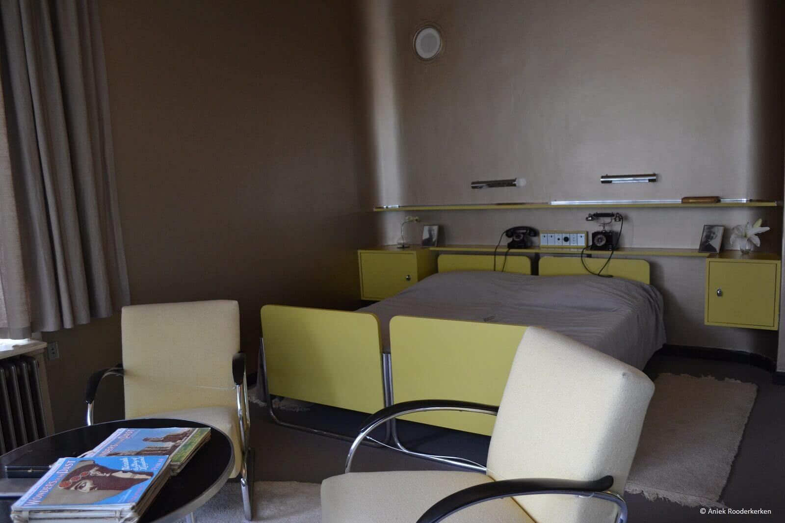 Slaapkamer in Huis Sonneveld in Rotterdam
