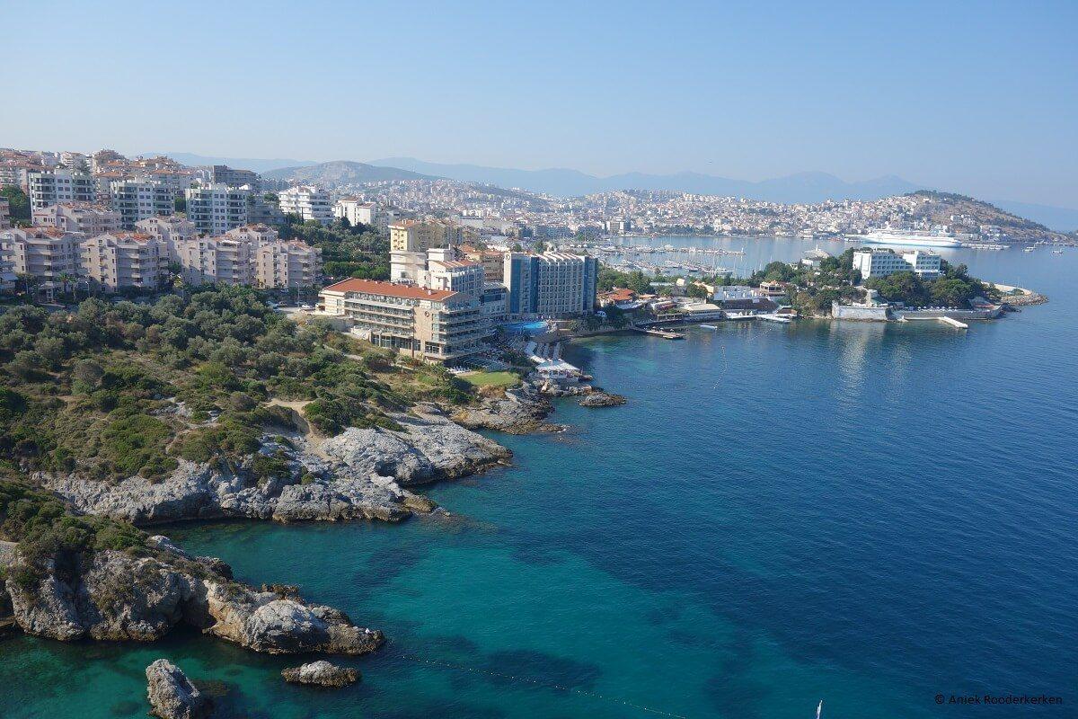 View of Kusadasi from the KoruMar Hotel De Luxe