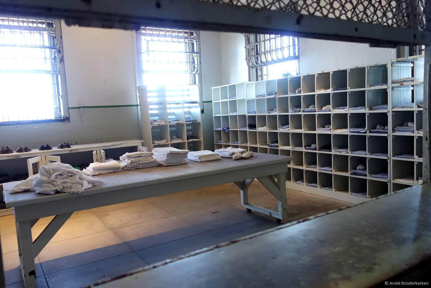 Linnenkamer van Alcatraz in San Francisco - travelwriter.nl