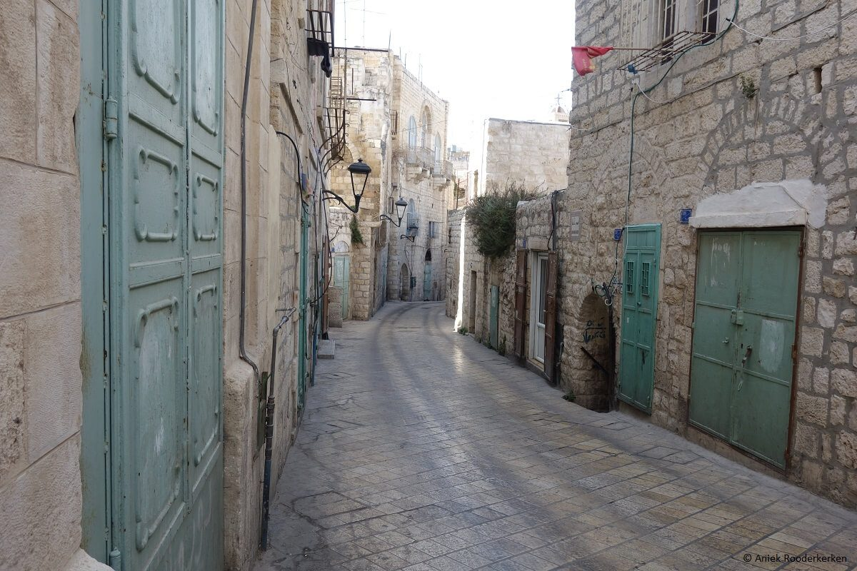 Blue doors in Bethlehem, Palestine