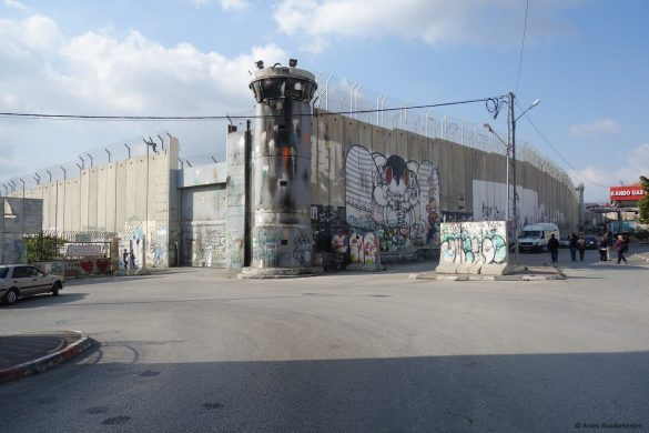 The Israeli Wall, The West Bank from Jerusalem