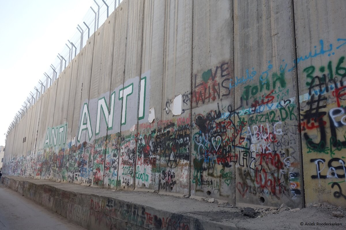 Street Art on the Israeli Wall or Israeli West Bank Barrier in Bethlehem