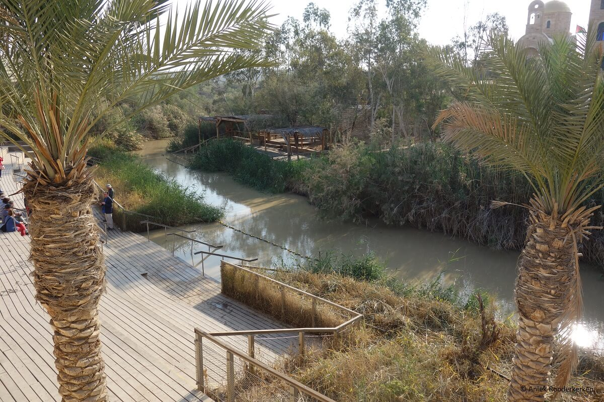 First stop at the West Bank from Jerusalem: Qasr el Yahud, the biblical site by the Jordan River where the baptism of Jesus by John the Baptist took place.