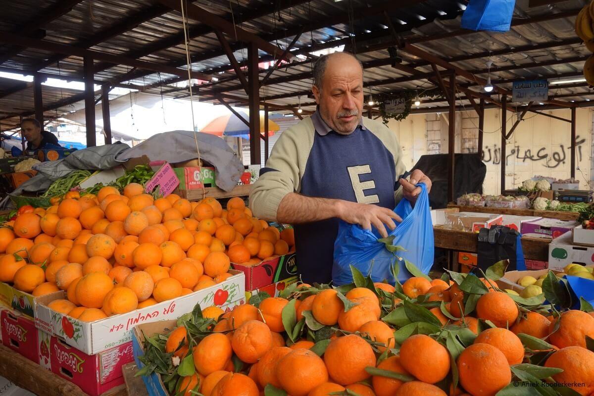 The market of Ramallah in Palestine