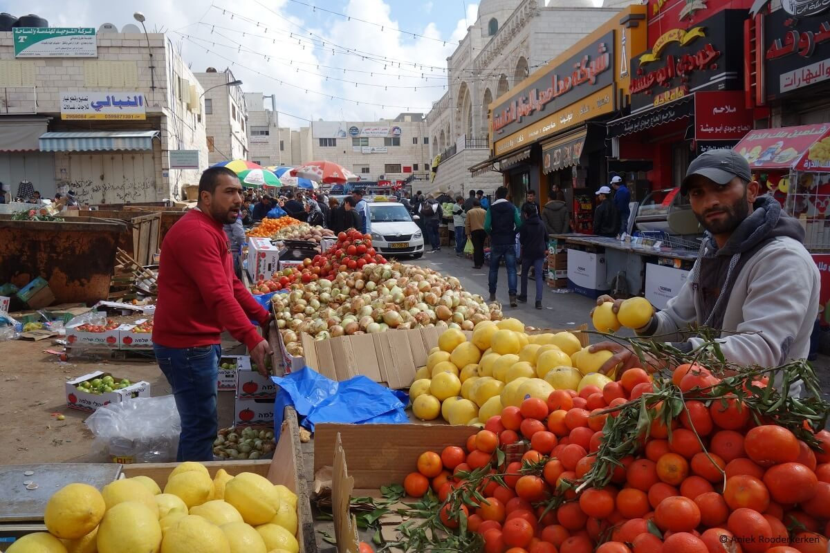 The market of Ramallah in Palestine