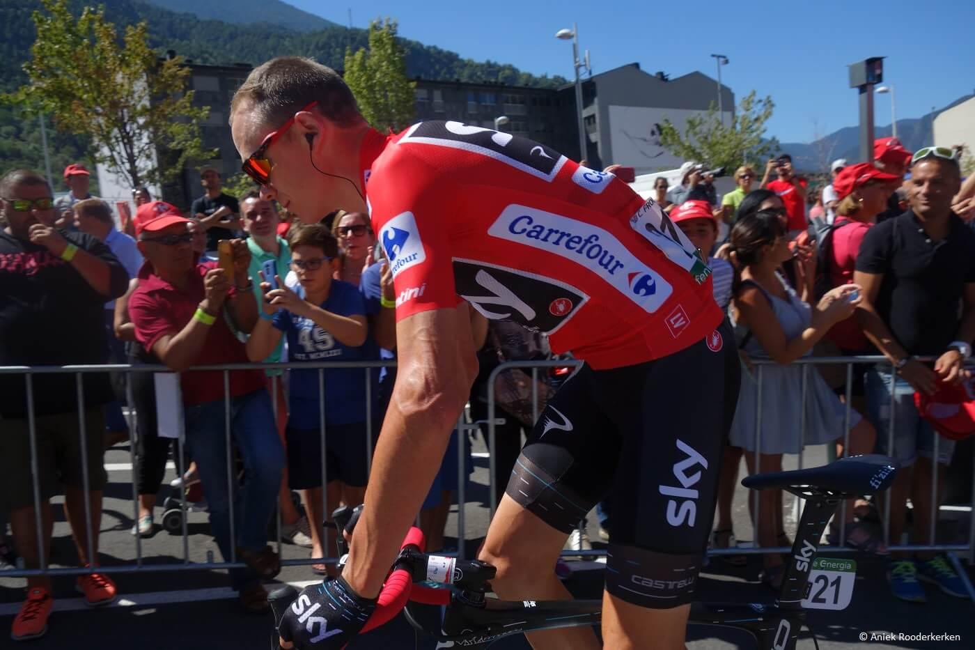 Chris Froome in La Vuelta Andorra 2017