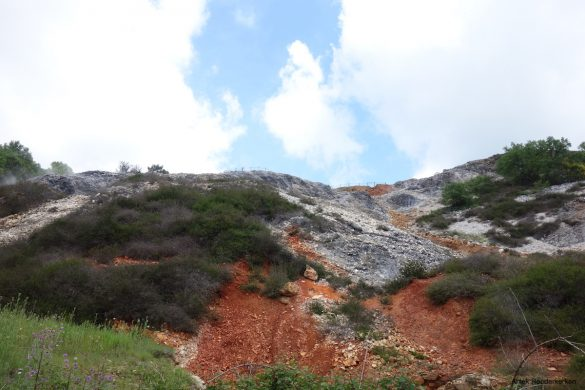 Red rocks in Parco Naturalistico delle Biancane
