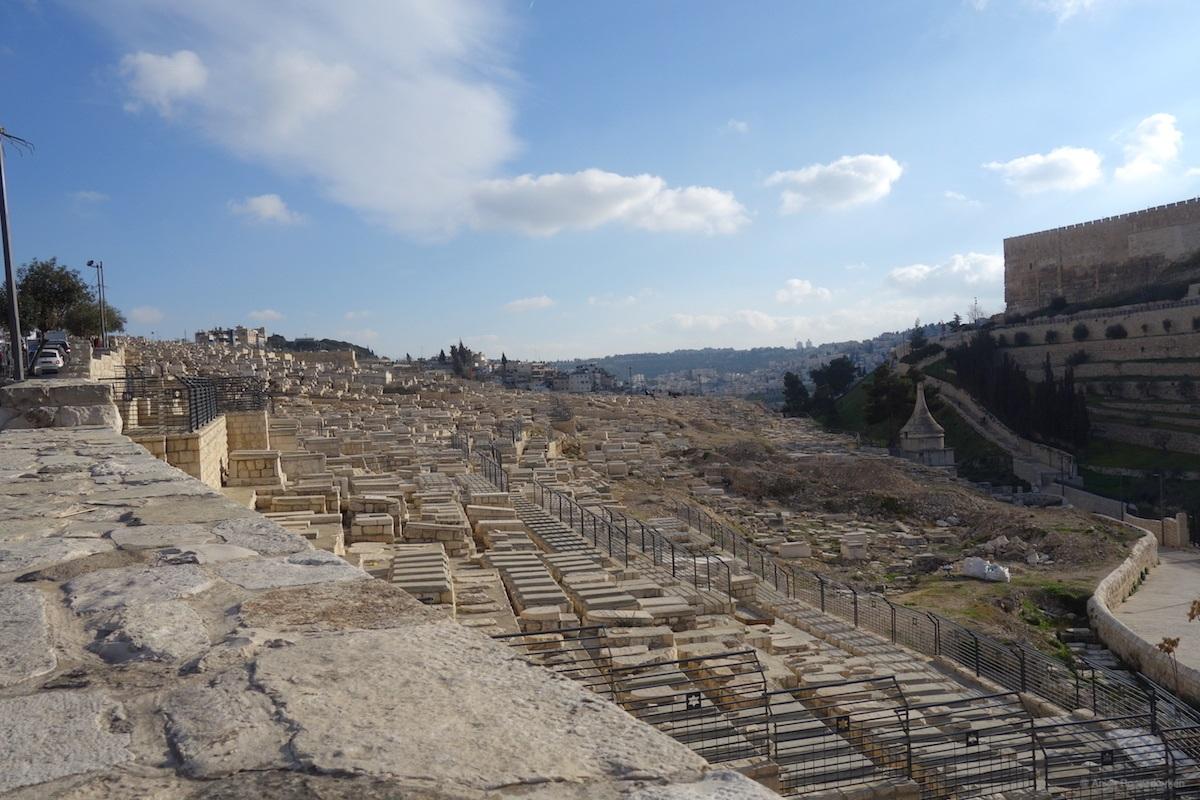 Visiting the Mount of Olives in Jerusalem, Israel