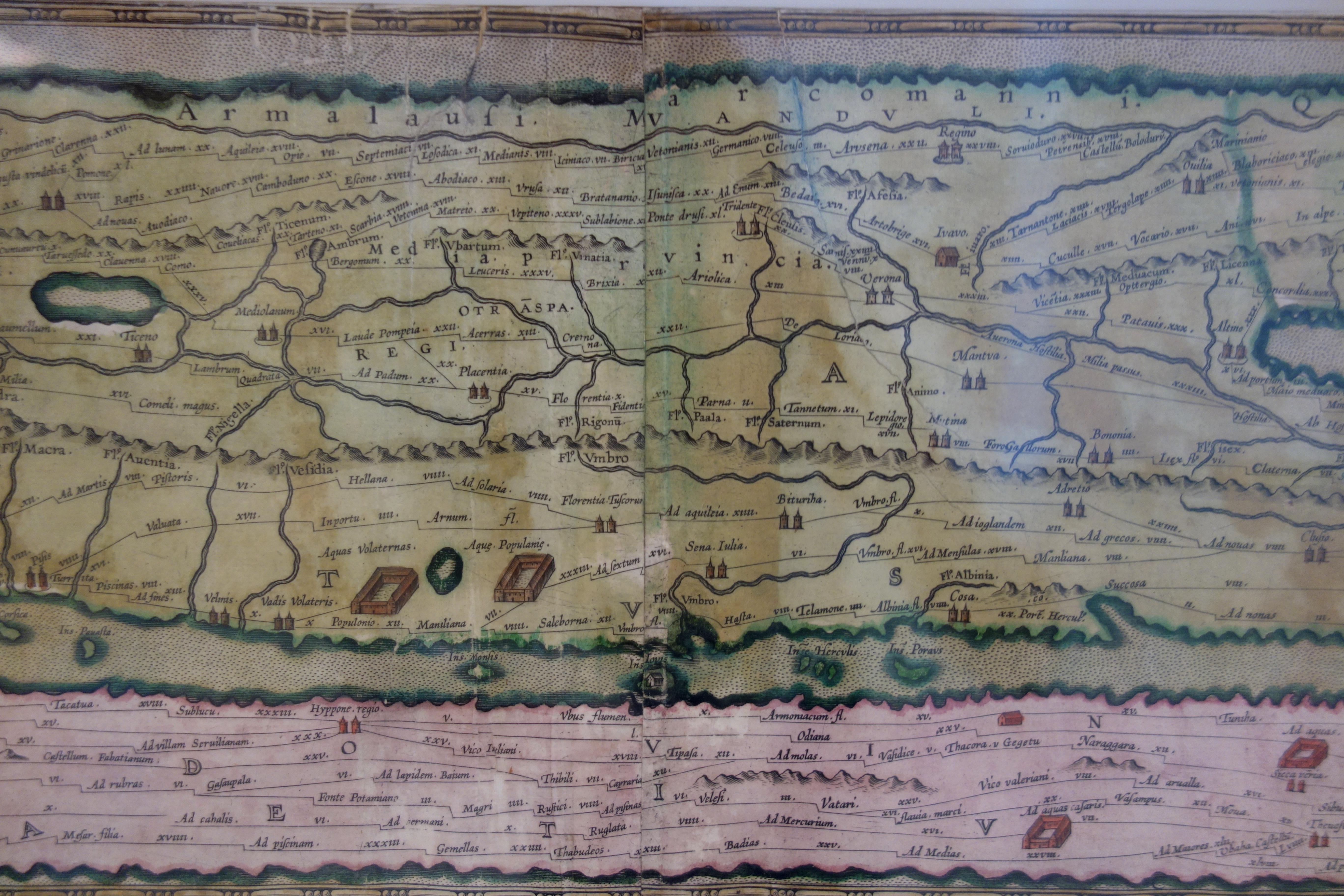 Een Romeinse reiskaart: de kaart van Peutinger