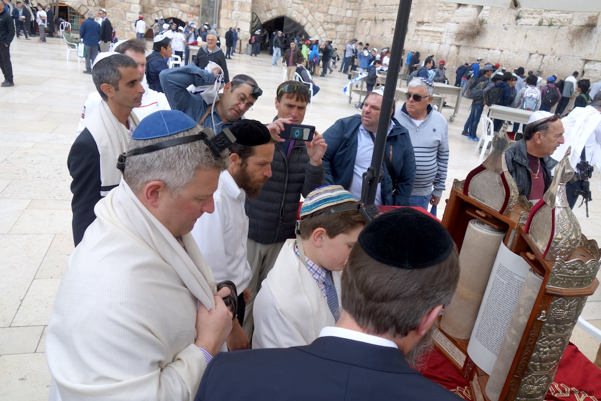 Western Wall, or the Wailing Wall, in Jerusalem
