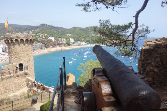 The castle of Tossa de Mar in Spain