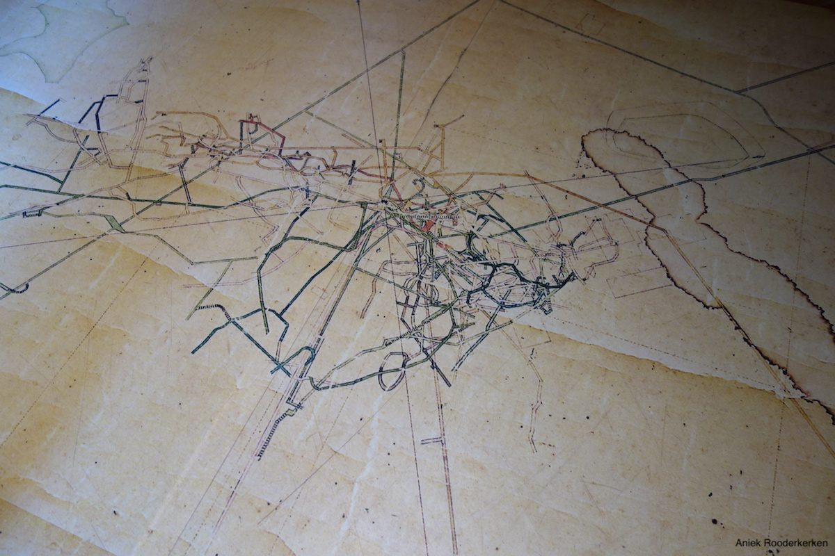 Map of the copper mine in Montecatini Val di Cecina