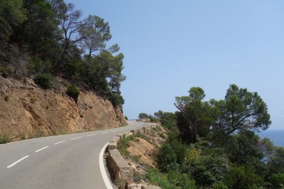 Cycling along the coast of Catalonia, Spain!