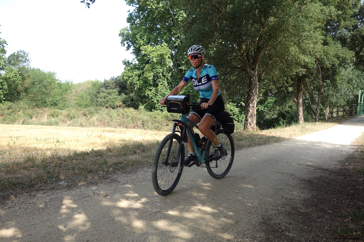 From Girona, the first 20 K I follow the Ruta del Carrilet in Spain