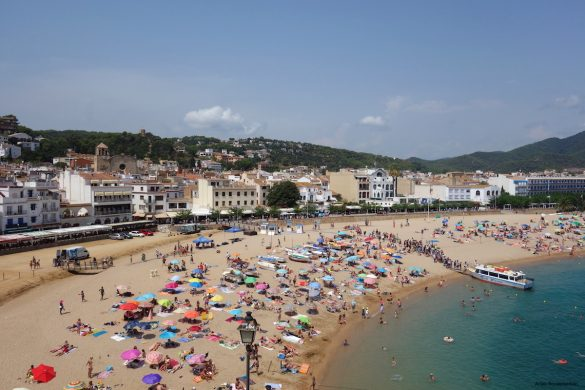 The beach of Tossa de Mar in Spain