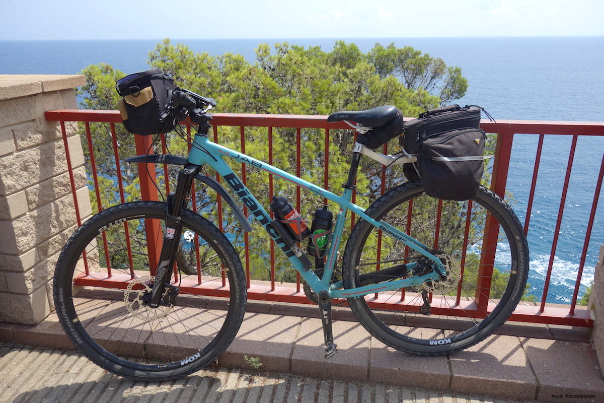Cycling along the most beautiful coast of Catalonia, Spain!