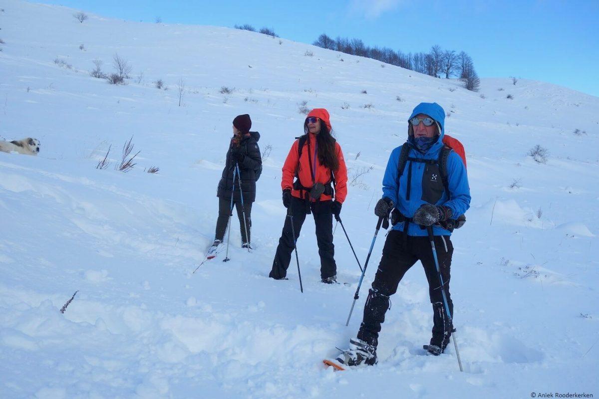 Snowshoeing in Bosnia and Herzeoginva
