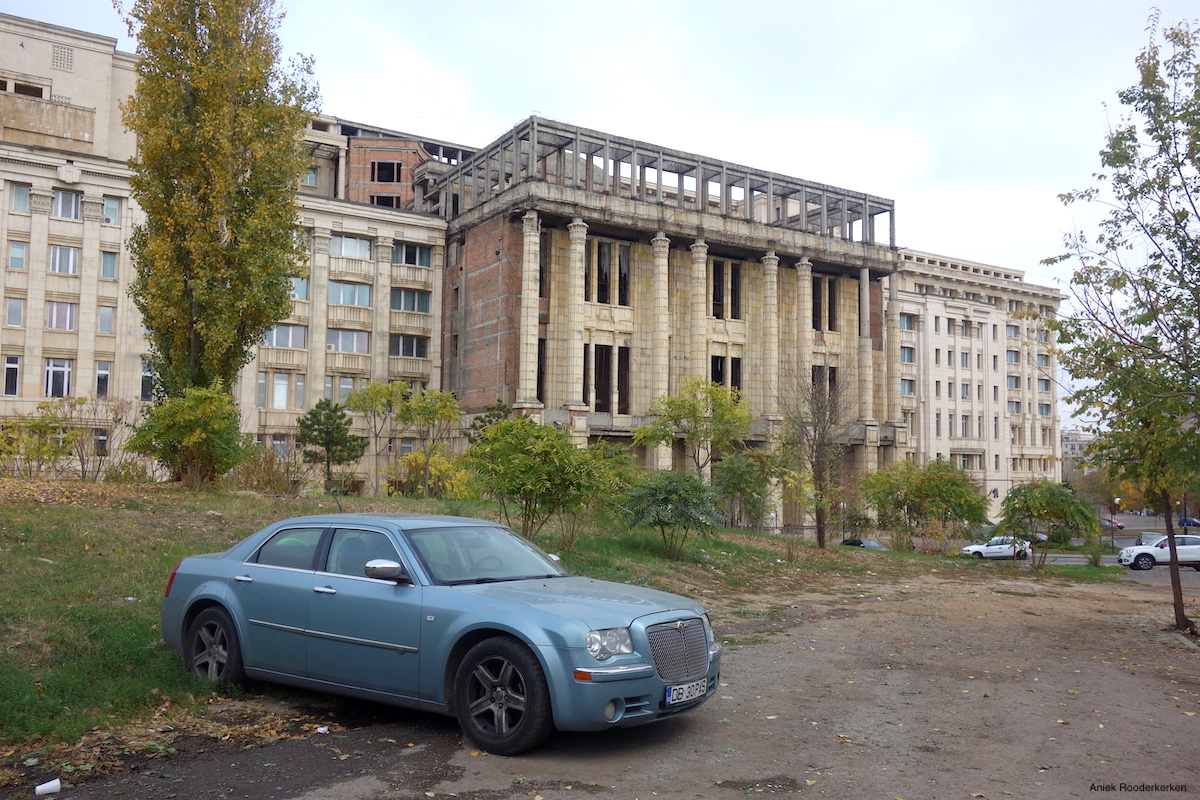 Unfinished building of the Romanian Academy. One of the most desolate places you can find in Bucharest.