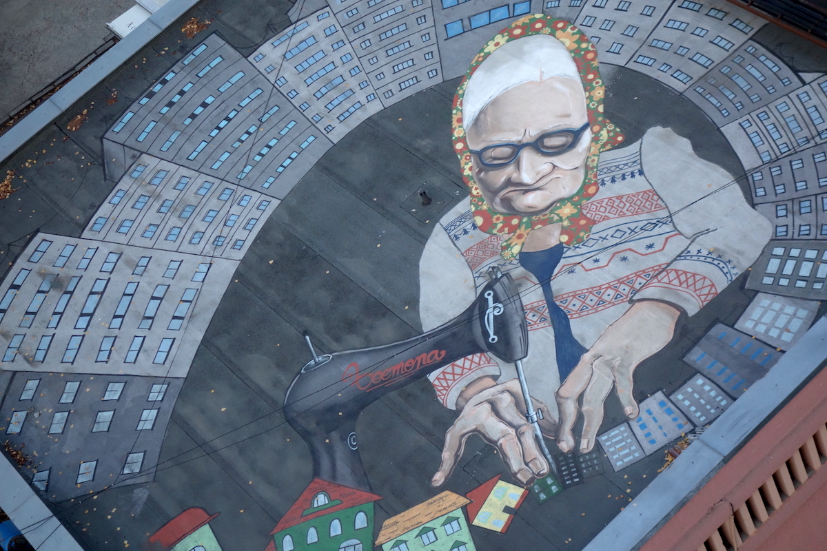 Street Art from the Pantelimon water tower