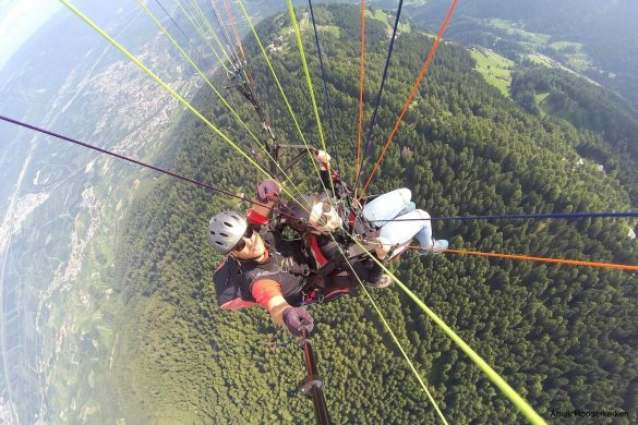Paragliding in South Tyrol, Italy