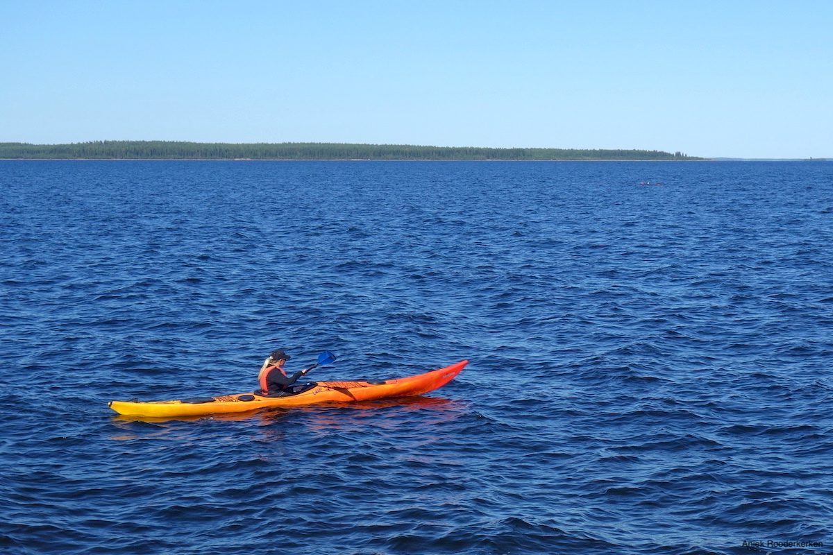 You will find numerous lakes and rivers in Swedish Lapland that flow towards the sea. Summer is ideal for renting a canoe or kayak and going out on the water.