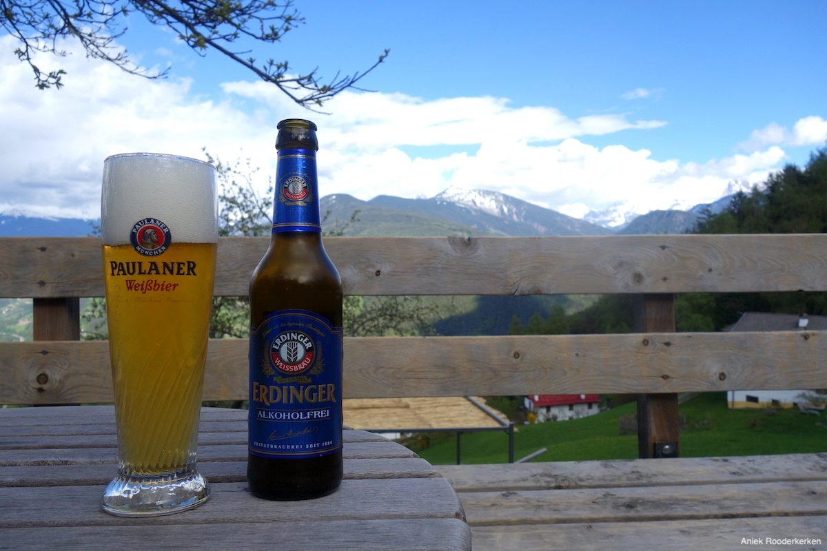 Beer with a view in South Tyrol