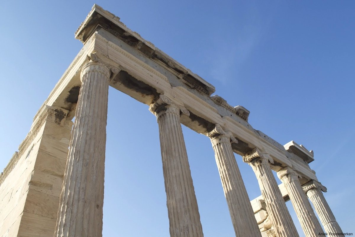 Wandelen naar de Akropolis: Parthenon in Athene