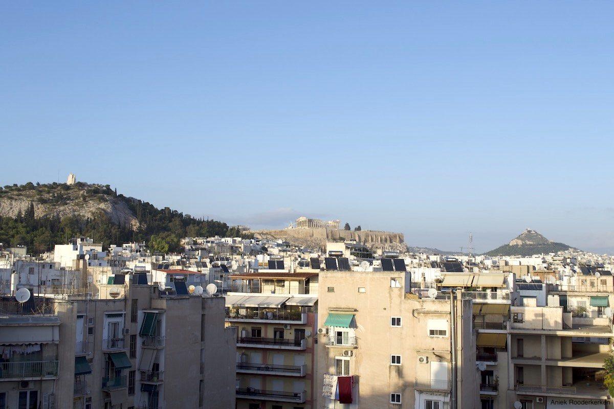 Wandelen naar de Akropolis