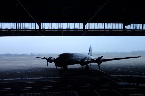 Verlaten vliegveld in Berlijn