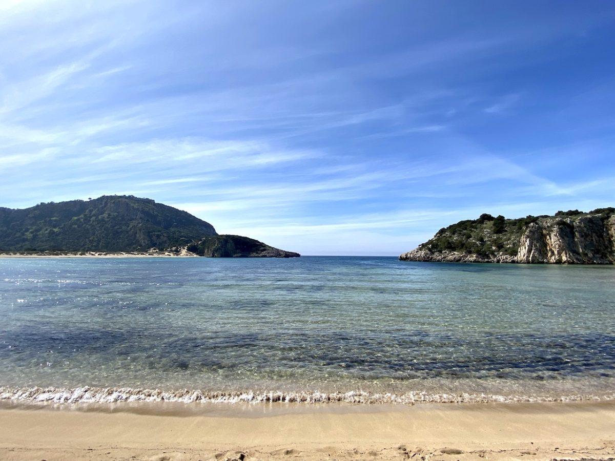 Voidakilia strand bij Kalamáta Griekenland