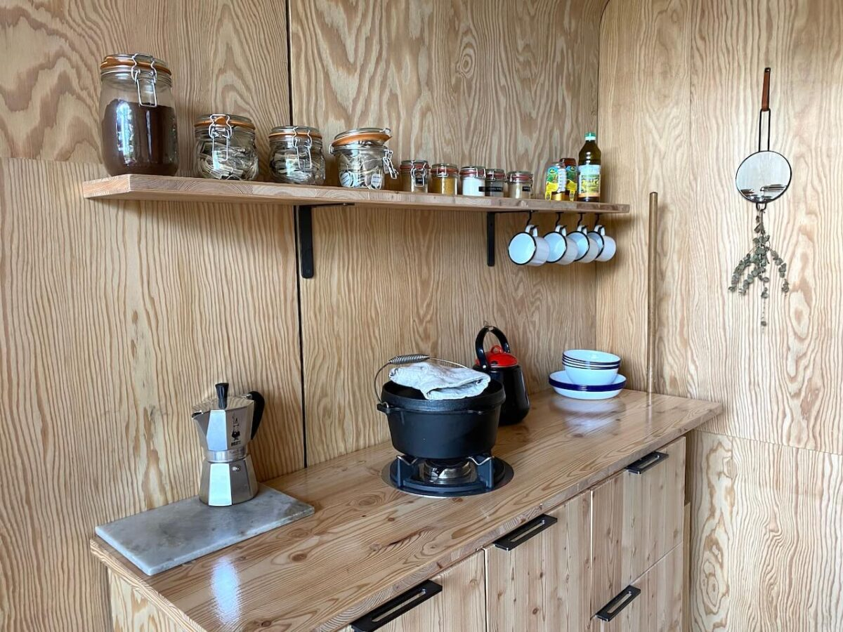 Kitchen in the Cabiner