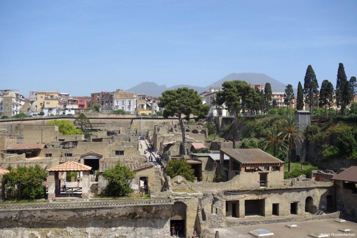 Herculaneum bij Napels in Italië