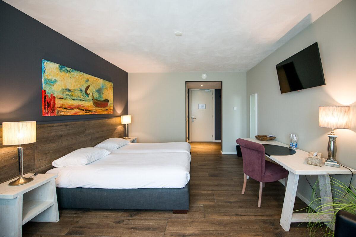 De kamers van Hotel Maashof in Venlo