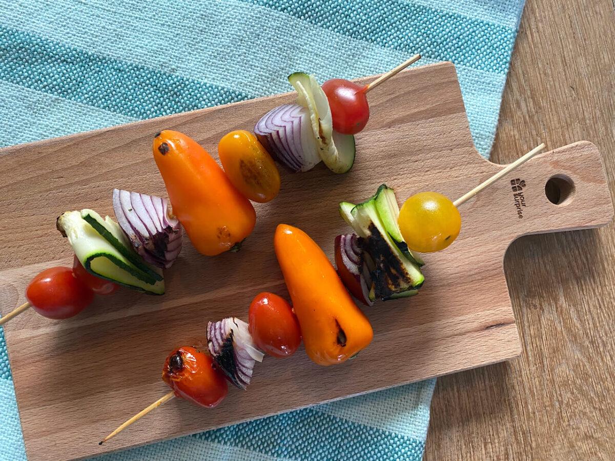 Vrolijke groentespiesjes