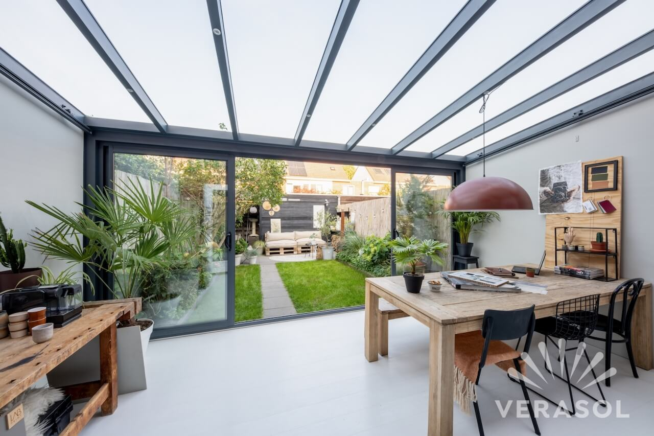 Een moderne tuinkamer